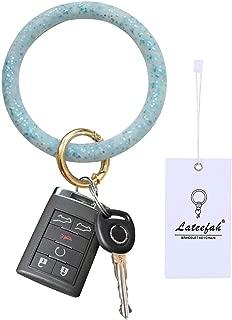 Lateefah Wristlet Keychain Bracelet Keyring Bangle Key Ring Round Key Chain for Women Girls