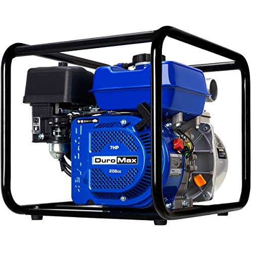 DuroMax XP652WP 208cc 158-Gpm 3600-Rpm 2-Inch Gasoline Engine Portable Water Pump, 50 State Approved, XP652WP, Blue