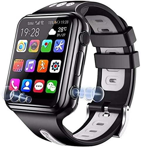 4G Universal Kids Smart Watch Phone con GPS Tracker combina video voz y llamadas Wi-Fi cámara de mensajería IP67 resistente al agua y SOS-negro