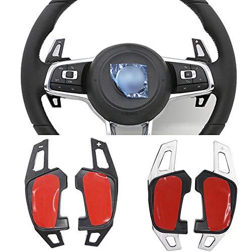 TAYDMEO Auto Lenkrad DSG Schaltwippen Verlängerung Schalthebel Aufkleber Autozubehör, für VW Golf 7 GTI R Rline GTE GTD MK7