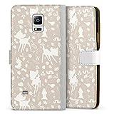 DeinDesign Étui Compatible avec Samsung Galaxy Note 4 Étui Folio Étui magnétique Bambi Produit...
