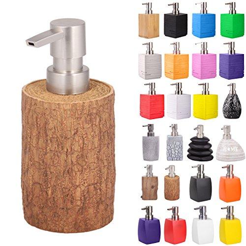 Seifenspender | viele schöne Seifenspender zur Auswahl | elegantes, stylisches Design | Blickfang für jedes Badezimmer (Rustikal)