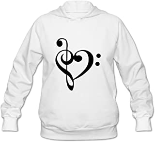 Heart Musical Symbol Funny Casual Long Sleeve Sweatshirt For Adult