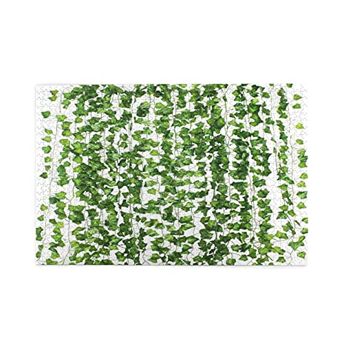 Jigsaw Puzzles 1000 Pieces,Artificial Ivy Garland Fake Plants Green For Wedding Party Garden Outdoor Greenery Wall Decoration,Family Large Puzzle Game Artwork and Great Gifts for Adults Teens Kids
