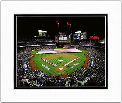 New York Mets MLB Double Matted 8x10 Photograph Shea Stadium Opening Day April 17, 1964