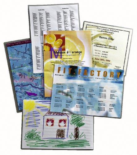 Leitz Selbstklebende Heißlaminierfolien, Glänzend, transparent, A4, Folienstärke 80 mic, 100er Pack, 33872