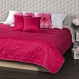 4Home Tagesdecke Doubleface rosa/grau, Polyester, 220 x 240 cm, 3-Einheiten