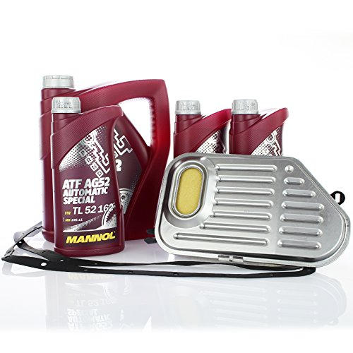 Service Set Hydraulikfilter Filter + 7 Liter Mannol Getriebeöl für Automatikgetriebe Ölwechsel
