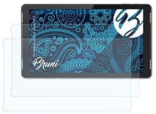 Bruni Schutzfolie kompatibel mit Trekstor SurfTab Theatre K13 Folie, glasklare Bildschirmschutzfolie (2X)