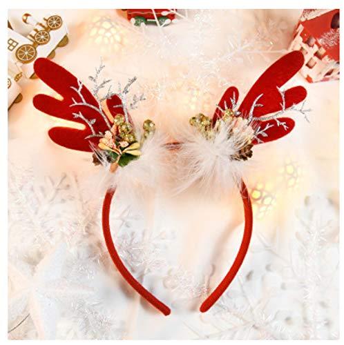 asdfkong Weihnachtsmütze Silber Elchhorn Stirnband Party Ballkleid Durchmesser 13Cm