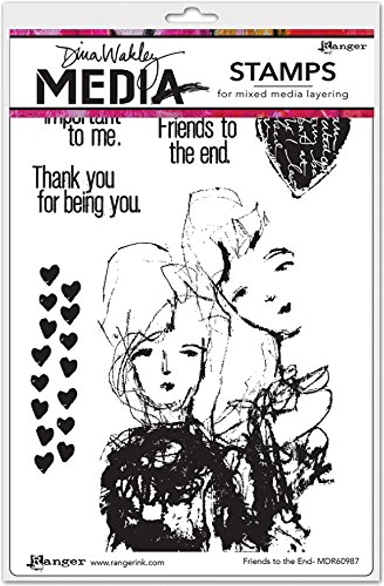 Ranger Friends to The End Dina Wakley Media Cling Stamps 6
