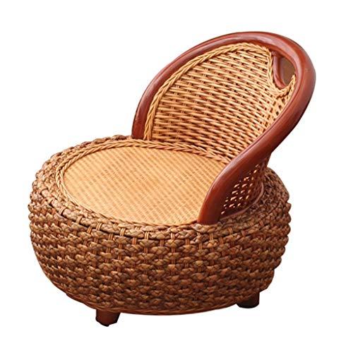 Étage Chaise Table Basse Tatami Chaise Basse Solide Chaise fenêtre en Bois Salle à Manger Chaise Enfants (Color : Brown, Size : 50 * 50 * 49cm)