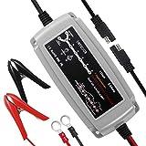 InThoor Chargeur Batterie, Entièrement Automatique, 12V, 5Amp, Chargeur de batterie intelligent (Charge, Maintient et Reconditionne les Batteries Auto et Moto) Prise EU