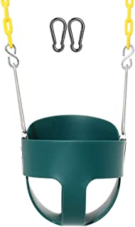 Naughty Jungle Heavy-Duty High Back Full Bucket Toddler Swing Set Accessories with Coated Swing Chains Fully Assembled