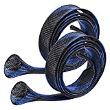 Yontree 2Pcs/Set Fishing Rod Cover Sock Sleeve Braided Mesh Rod Protector,Spinning/Casting/Sea...