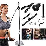 Fitness LAT y Sistema de Polea de Elevación DIY Máquina de Extracción de Cable Accesorio para el Hogar Gimnasio Equipo de Ejercicio para Extensión de Tríceps, Bíceps, Espalda, Antebrazo, Hombro