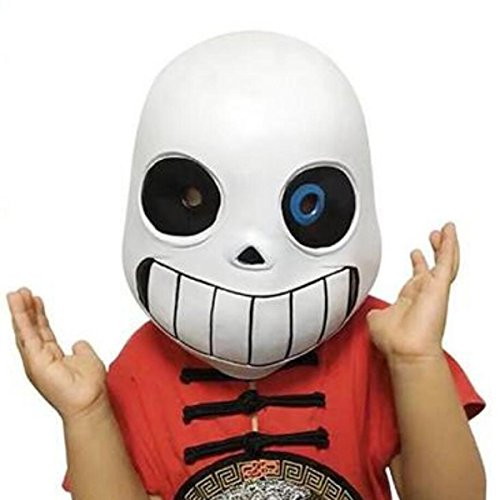 Nsoking Hot Latex Full Head Sans Latex Mask Cosplay Cartoon Skull Mask Pro Kids Mask (Kids Size, Blue)