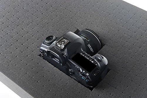 SCHAUMEX ® Rasterschaumstoff Würfelschaum Zupfschaum Werkzeugkoffer Kamerakoffer Schaumstoff 500mm x 350mm x 45mm