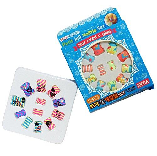 HAND Nail Tip Set 1000A Fun Enfants Faux Pas de Colle nécessaire Modèles Assortis - 2 Packs