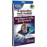 BSI - Trampa de pegamento para ratones (6 unidades), color gris