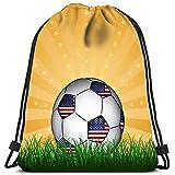Le Sport De Sac À Dos De Cordon Met en Sac Les Sacs Fourre-Tout À Sangle Ballon De Football Américain pour Voyager Et Stocker
