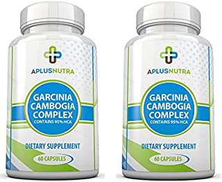 95% HCA Extreme Garcinia CAMBOGIA - Twin Pack - 100% Pure Extract - Best Weight Loss Supplement - All Natural Appetite Suppressant - 120 Count Quality Veggie Capsules by A Plus Nutra