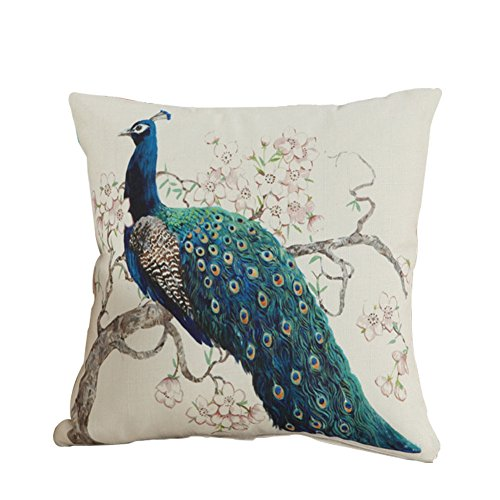 Lumanuby 1Pcs Pillowcase Super Supple Sofa Cushion Cover Peacock Pattern Design Pillow Creative Home Pillow Case Pillow Cover Cushion Cover 45cm*45cm (StyleC)
