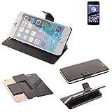 K-S-Trade® Schutz Hülle Für Switel ESmart E2 Schutzhülle Flip Cover Handy Wallet Case Slim Handyhülle Bookstyle Schwarz