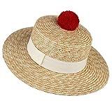 Sombrero para mujer de Chutd, con visera de paja, ala ancha,