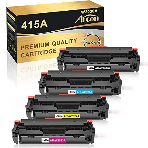 Arcon Kompatibel Toner Cartridge Replacement für HP 415A 415X W2030A W2030X M479FDW für HP Color Laserjet Pro MFP M479FDW M479FDN M479DW M479FNW M454DW M454DN M479 M454 W2031A W2032A W2033A(Kein Chip)