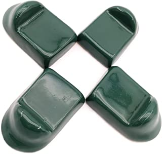 FIRECOW Ceramic Feet Accessories fit for Big Green Egg, Ceramic Grill Shoes for Large Green Egg,Medium/XL BGE Base Parts Set of 4