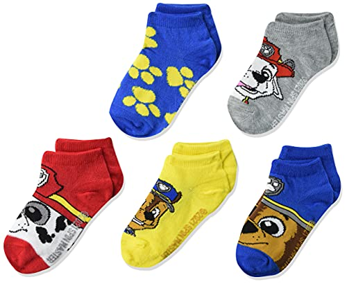 Nickelodeon boys Paw Patrol 5 Pack Shorty Casual Sock, Assorted Big Face, Shoe Size 4-8 US