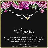 A Charmed Impression to My Nanny - ハート付きインフィニティブレスレット
