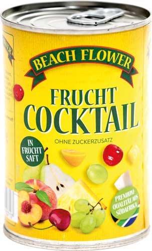 Beach Flower Frucht-Cocktail Natürlich süß, ohne Zuckerzusatz - 6x 410 g
