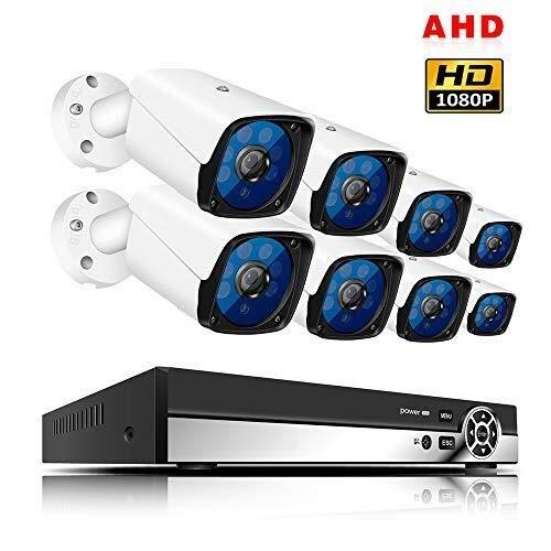 SXZHSM Wetterfeste Überwachungskamera for Den Innen- Und Außenbereich, Festplatte Mit 8-Kanal-HD-CCTV-System, Unterstützung for Die Remote-Anzeige Von Smartphones Überwachungskameras
