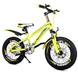 YUCHEN- Bicicletas niños, al aire libre Esquí de Amortiguador muchacho / 18 '' de bicicletas de montaña, alta dureza de acero al carbono de alta seguridad antideslizante Pedales antideslizante gruesos
