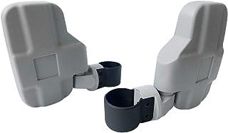 Motobiker Adjustable 1Pair UTV Side Mirror  1.75 or 2inch Roll Bar Cage, Universal UTV Side View Mirrors for Polaris Ranger RZR, Can Am Commander, Maverick X3, Gator, Teryx, Rhino YXZ1(Gray)
