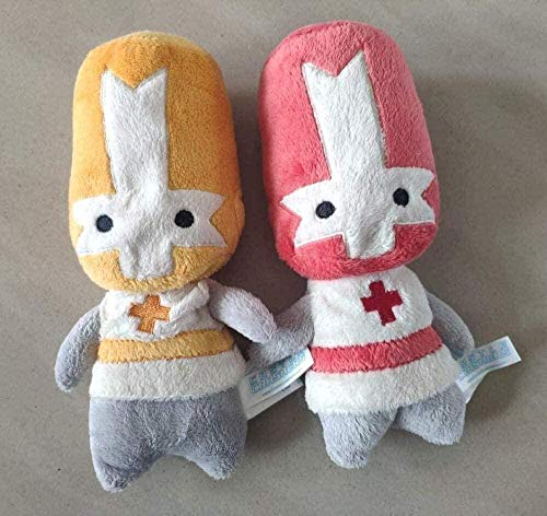 NC56 Cute Plush Toys Creative Toy Gifts Soft Dolls 2pcs 20cm Castle Crashers Red Orange Knight Stuffed Plush Toy Children s Day Birthday Gifts Doll for Kids Girls Boys Friends