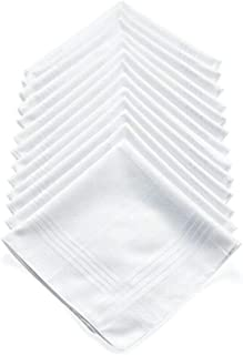 13 Pcs Mens Handkerchiefs Cotton Handkerchief Hanky Pocket Square Set Vintage