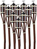 STAR - LINE 24 Gartenfackeln 90 cm aus Bambus mit Docht Braun - Nachfüllbar - Lange Brenndauer