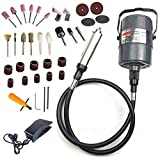 HERIS Flex Shaft Grinder Carver Rotary Tool Electric Hanging Grinding Machine Multi-function Tools Foot Pedal Control Kit for Carving Buffing Drilling Polishing Sanding Cutting Cleaning