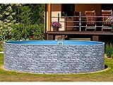 Mountfield Azuro Vario Stone V1 - Piscina de pared de acero (360 x 90 cm, lámina interior, sin sistema de filtro)