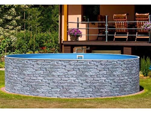 Mountfield AZURO Vario Stone V4 - Piscina de Pared de Acero (460 x 120 cm, sin Filtro)