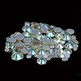 Hot Fix Piedras de diamantes de imitación y cristales Strass Adhesivo con pegamento en la parte posterior de hierro en gemas para ropa-37 jonquil AB, SS10 1440PCS