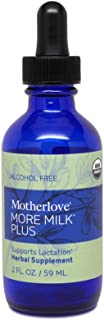 Motherlove - More Milk Plus Alcohol Free, Fast-Acting Herbal Breastfeeding Supplement for Nursing & Pumping Moms' Milk Supply, Potent Lactation Support, Liquid Tincture with Organic Herbs, 2 oz.