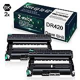 2 Pack Black DR420 Drum Compatible for Drum Unit Replacement for Brother DCP-7060D DCP-7065D HL-2220 MFC-7360N HL-2242D MFC-7860DW HL-2275DW Printer,Drum Unit.