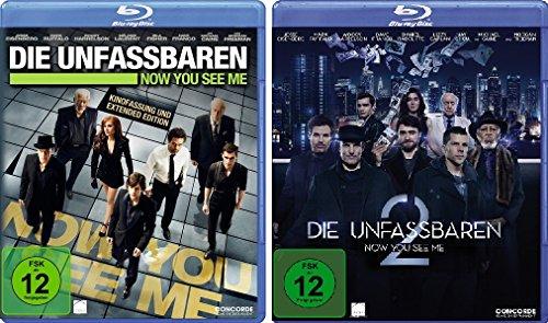 Die Unfassbaren - Now You See Me 1+2 im Set - Deutsche Originalware [2 Blu-rays]