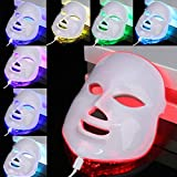 7 Farbe Hell Photon LED Elektrisch Gesichtsmaske Haut Falten Entfernung Anti-aging Maske Verjüngerung Therapie Beauty Maschine Spa Gerät - uk plug