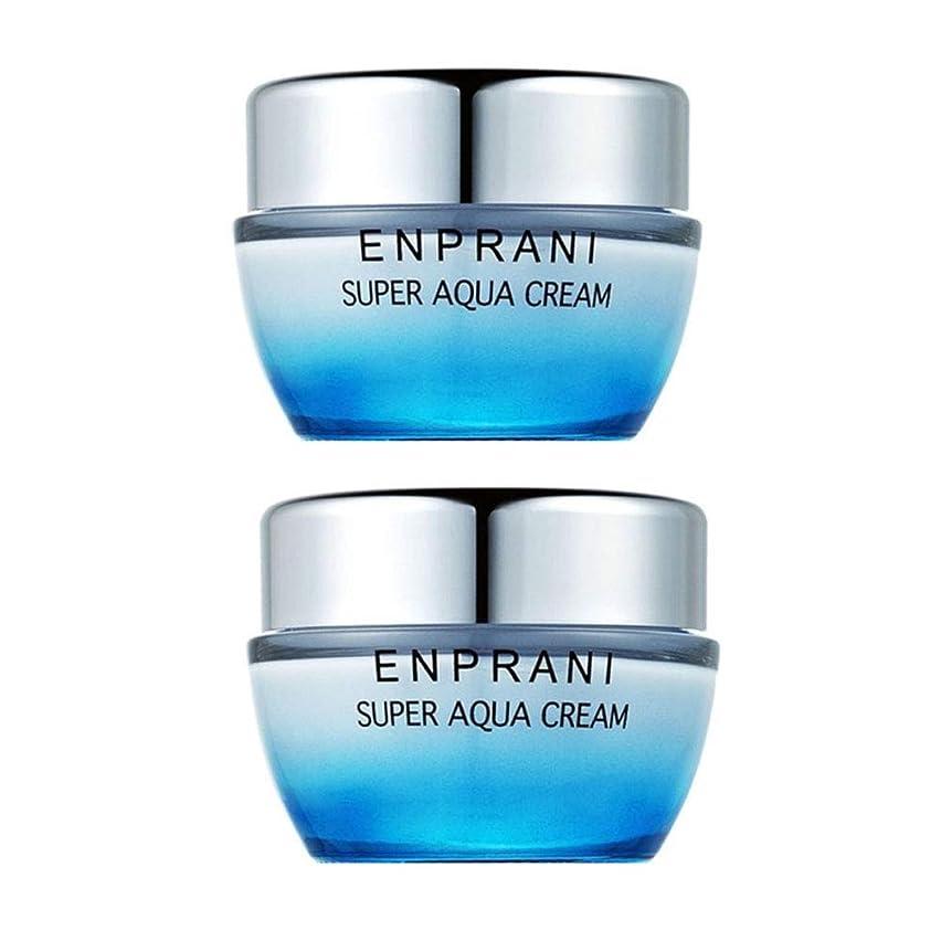魂認知敷居エンプラニスーパーアクアクリーム50ml x 2本セット、Enprani Super Aqua Cream 50ml x 2ea Set [並行輸入品]