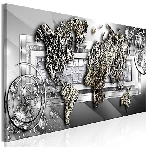 decomonkey Bilder Tiere Abstrakt 120x40 cm 1 Teilig Leinwandbilder Bild auf Leinwand Vlies Wandbild Kunstdruck Wanddeko Wand Wohnzimmer Wanddekoration Deko Löwe bunt